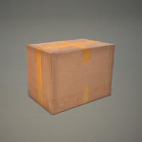 russian cardboard box 3d 3ds