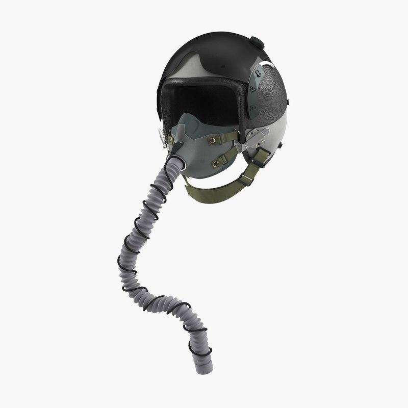 3d military pilot helmet