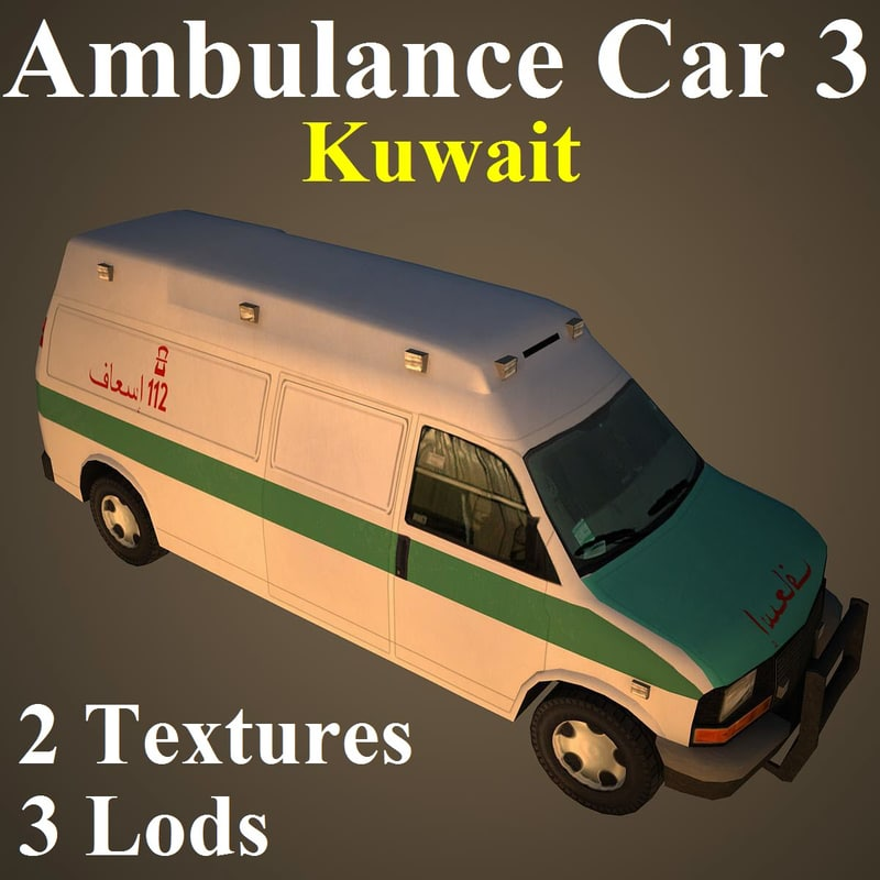 3d ambulance car kuw