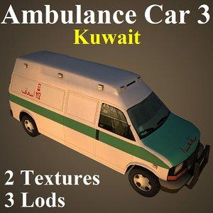 3d ambulance car kuw
