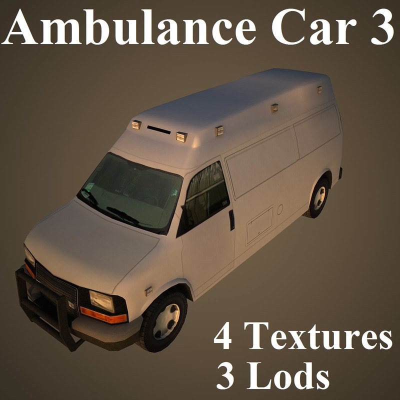ambulance car 3d model