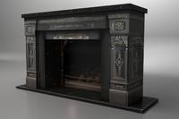 fireplace vintage 3d model