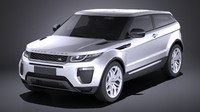3d range rover evoque model