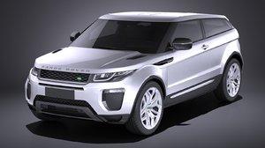 3d range rover evoque model