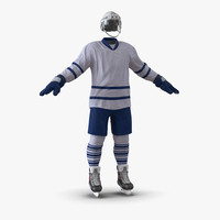 3d hockey equipment generic 5 model