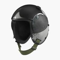 military pilot helmet 2 3d model