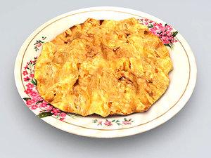3d thai omelet model