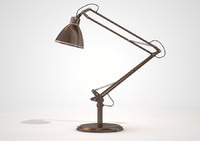 vintage copper desk lamp c4d