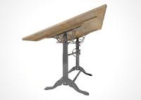 vintage desk classic 3d model