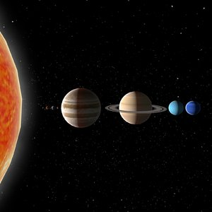 solar sun planets 3d model