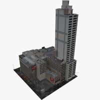 3d new york city block model
