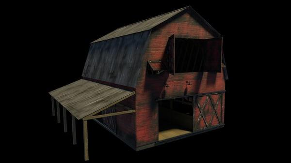 barn weathered 3d model