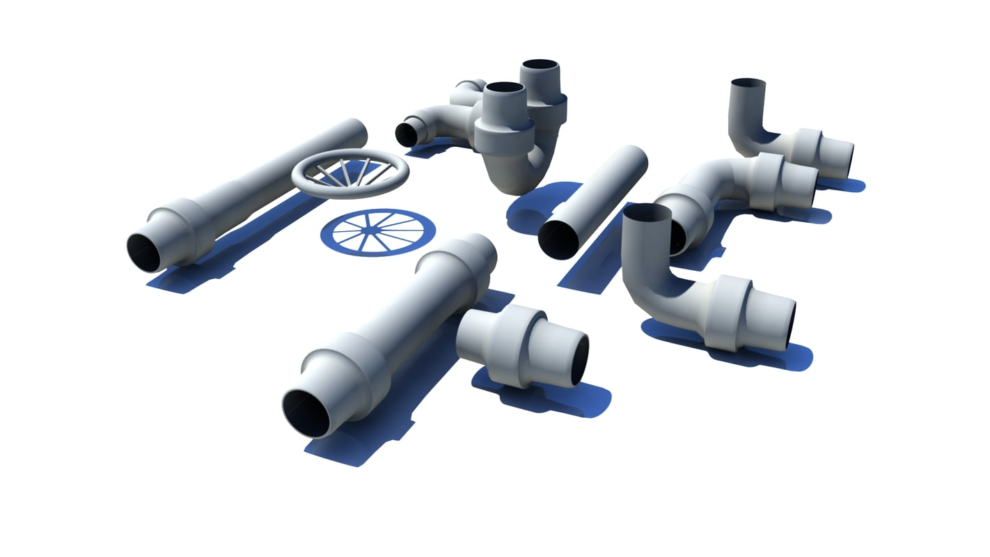 3d pipe model