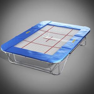 gymnastics trampoline 3d model
