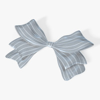 3d model gift bow ribbon