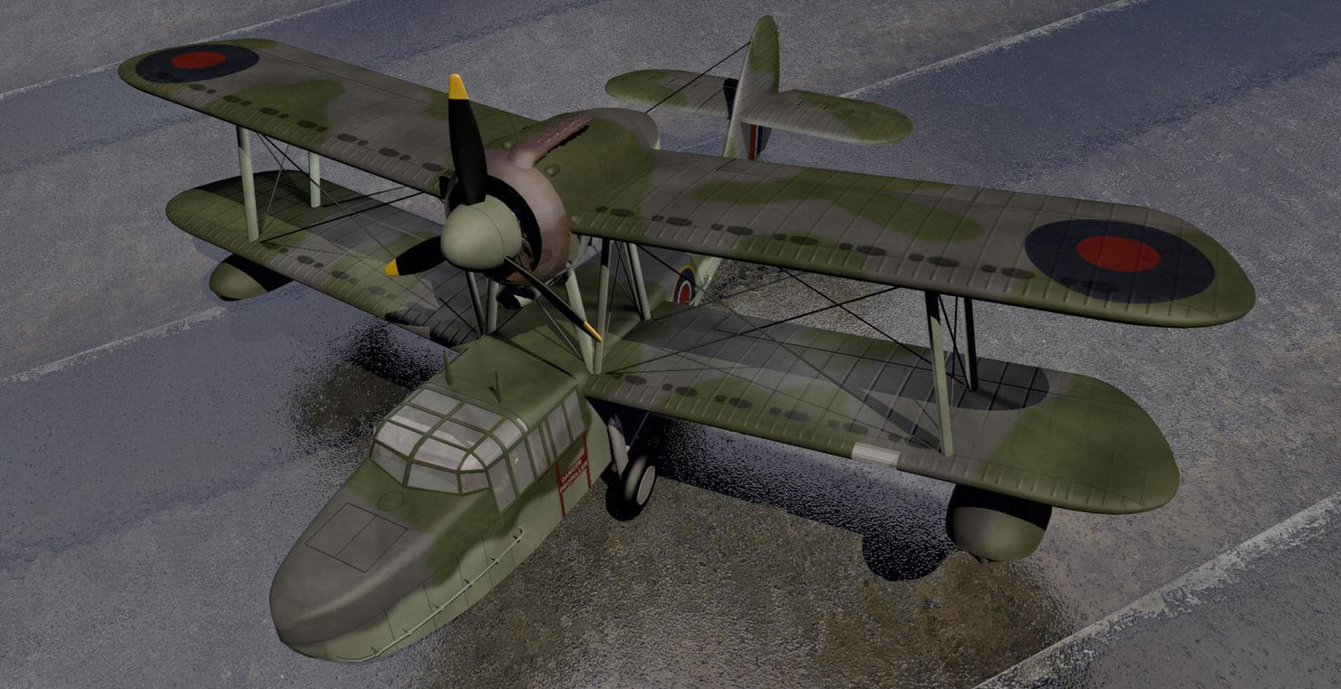 plane supermarine seaotter 3d 3ds