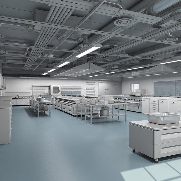 commercial kitchen 3d max
