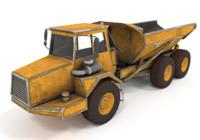 dump truck 3d model