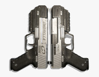 3d max sci fi gun
