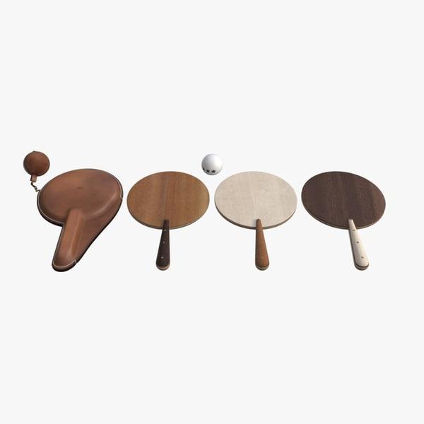 3d bddw ping pong paddles