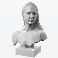 3d female bust