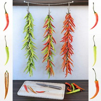 chilli pepper bunch 3d fbx