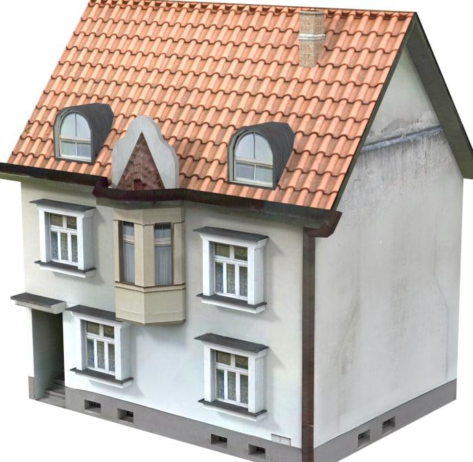 ordinary house 3d obj