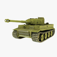 3d model panzerkampfwagen tiger