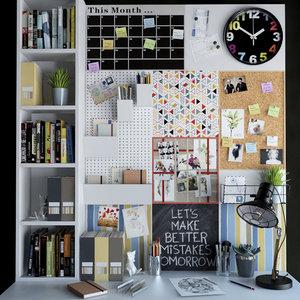 office desktop 3d model