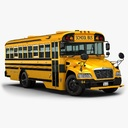 school bus 3D models