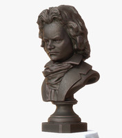 bust beethoven 3d x