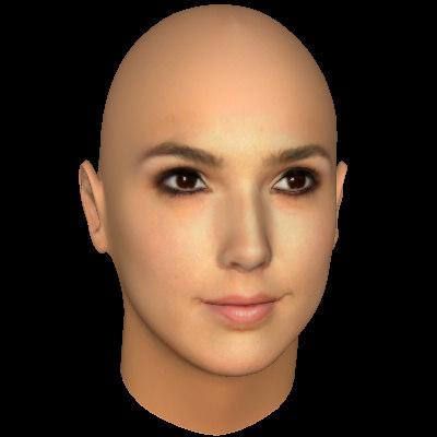 female head 3d model