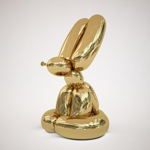 obj jeff koons balloon rabbit