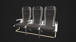 airplane seats pbr 3ds