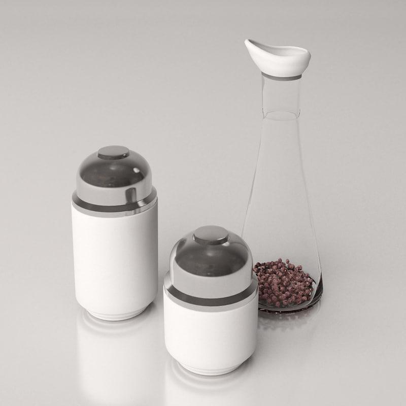 free spice jar 3d model