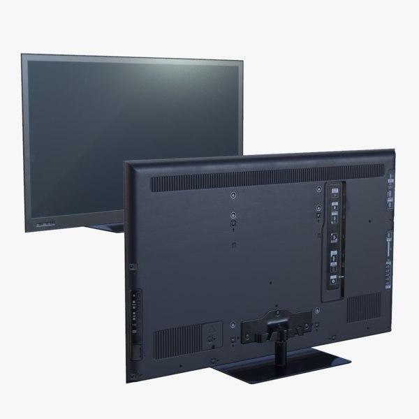 3d model real-time ready flatscreen tv