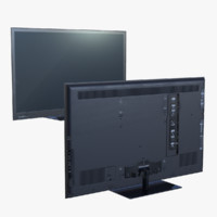 3d model real-time ready flatscreen tv