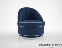 chapel street brufani armchair 3d obj