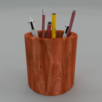 pen holder 3d 3ds