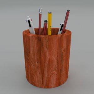 pen holder 3d 3ds