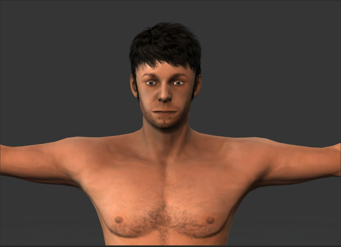 3d model man classic dirty
