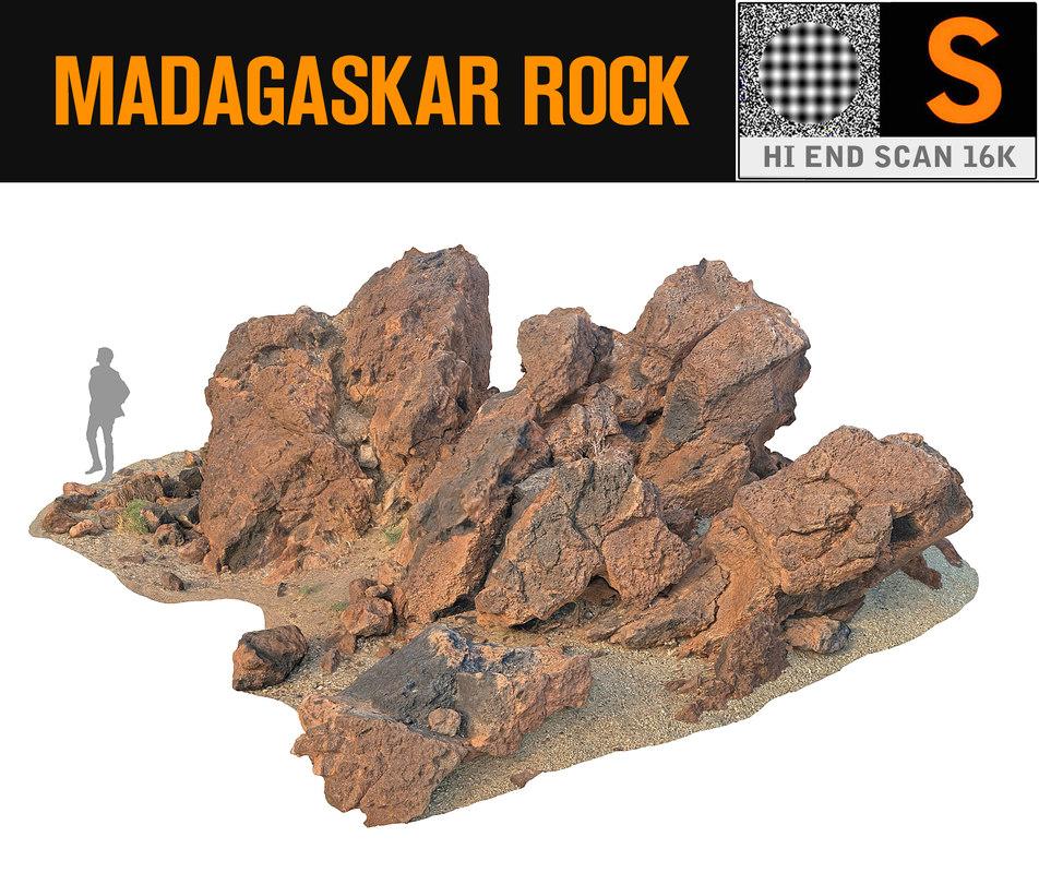 madagascar red rock 16k 3d model