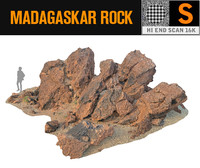 madagascar red rock 16k 3d model