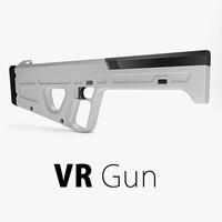 3d model vr gun virtual