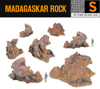 3d model madagascar red rock 16k