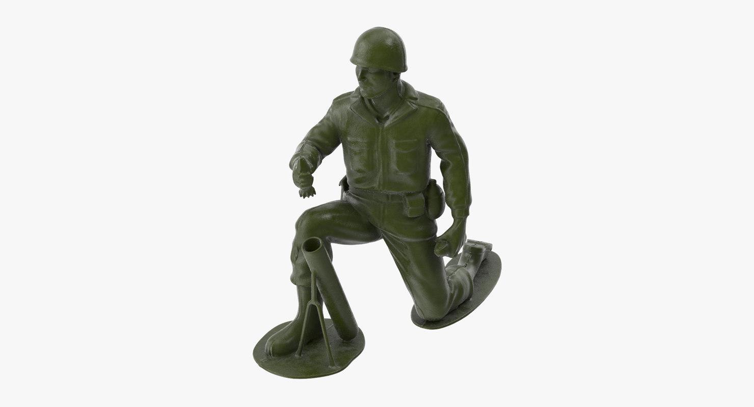 3d model plastic toy soldier 04