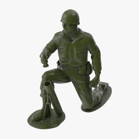 3d model plastic toy soldier 04