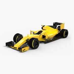 low-poly formula 1 2016 3d max