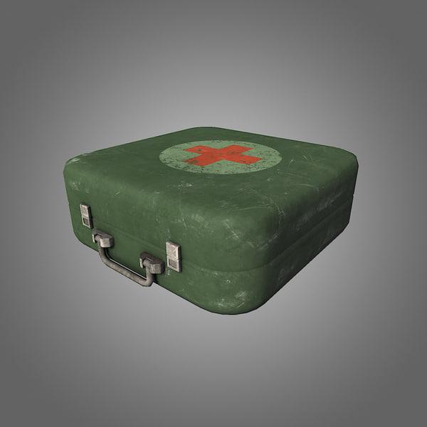 medkit low-poly 3d model