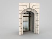3d architectural element 36 model